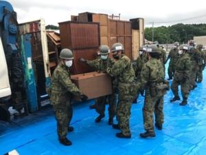 人吉市災害派遣、活動災害廃棄物集積